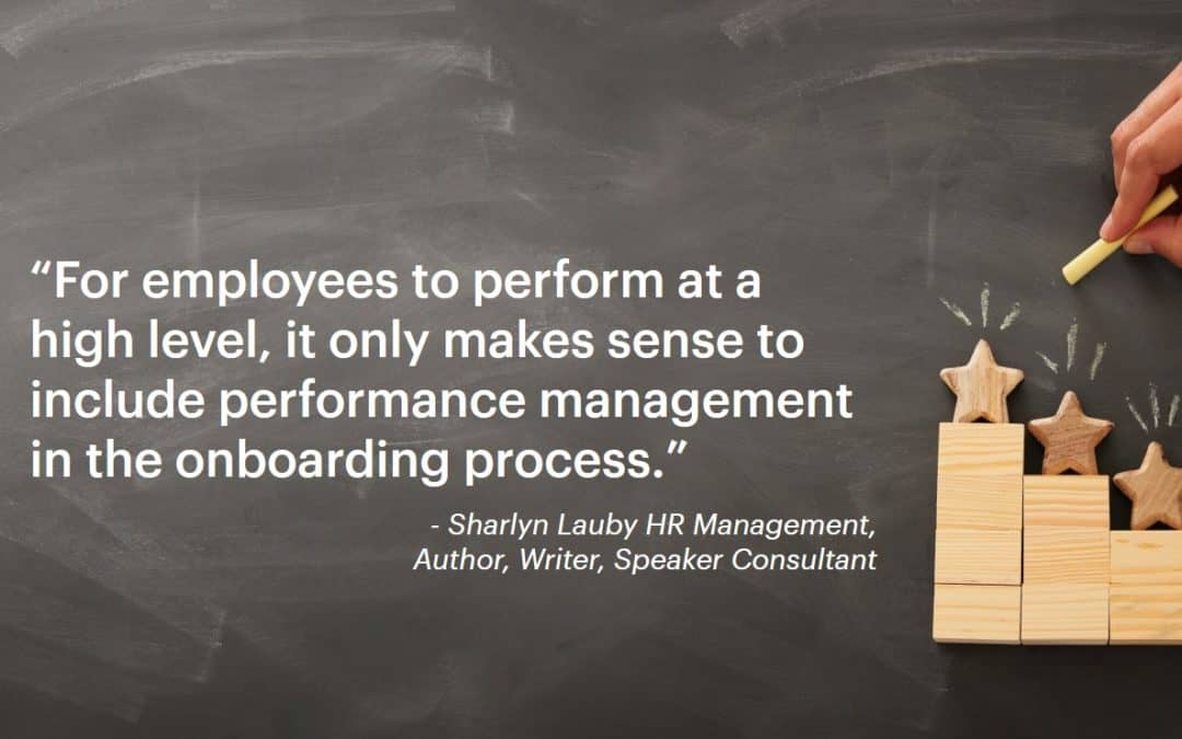 Performance Management Starts in the Beginning
